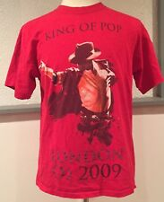 Michael Jackson King Of Pop London O2 2009 2 Sided Red T Shirt Large