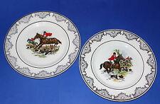 MYOTT MEAKIN * 2 Staffordshire Plates * Hunting Design * 23cm Diameter *