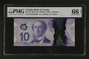 2013 Canada Bank of Canada BC-70c 10 Dollar PMG 66 EPQ Gem UNC