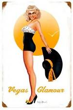 New! Vegas Glamour Vintage Licensed Metal Sign by Ralph Burch Home Decor RB136