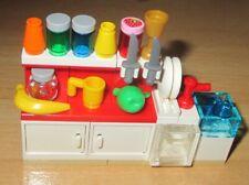 Lego City - Friends - 1 Rot-Weißer Küchenblock mit viel Zubehör