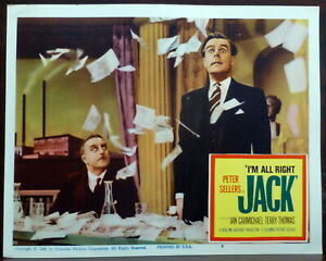 Peter Sellers ORIGINAL 1960 Lobby Card I'm All Right Jack Ian Camichael