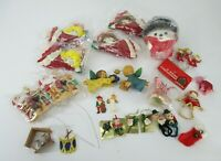 Vintage Lot of Christmas Tree Ornament Decorations Variety Holiday