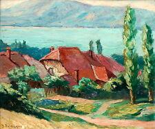 Yvonne DELDICQUE, lac d'Annecy, Chavoires, Savoie, montagne, Arras, tableau