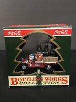 NIB 1992 COCA COLA Bottling Works Collection Xmas Ornament DELIVERY for SANTA