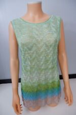 Missoni NEW Knitted Top Size 48 Uk 10/12 Bnwts Sleeveless