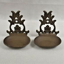 Set Of 2 Cast Iron Wall Mounted Bird Feeders Preowned