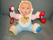 Gerber 1998 Stuffed Plush Cloth Baby Girl Doll Activity Toy Rattle Mirror Squeak