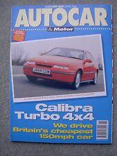 Autocar (8 April 1992) Ginetta G33, Calibra Turbo, Mazda 626, Brazil Grand Prix