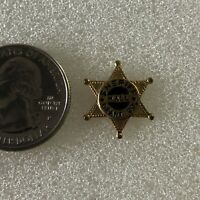 Grant County Sheriff Hall Vintage Mini Star Badge Pin Pinback #37092