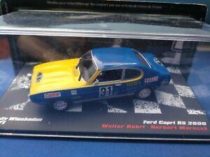 COCHE 1/43, ALTAYA, MODELO FORD CAPRI RS 2600 RALLY WIESBADEN 1971