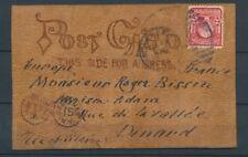 CP en cuir 2c USA + taxe 15c N.York, Obl. Niagara Falls, RR, Sup. X1491