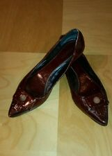 Petrizia Pepe Womens Leather Flats with Tassles Size 38 Gorgeous Made in Italy