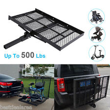 """48""""x 28"""" Folding Wheelchair Scooter Towing Hitch Mount Ramp Carrier Rack Trailer"""