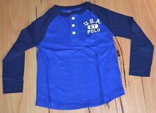 Ralph Lauren Boys Long Sleeve T Shirt-  BLUE - SIZES - 4,5 & 8 YEARS  - NEW