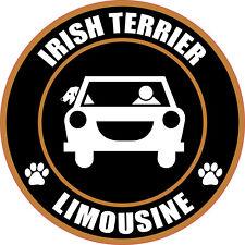 """Limousine Irish Terrier 5"""" Dog Sticker"""