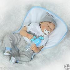 "Soft Silicone Baby 22"" Reborn Baby Dolls Sleeping Real Life Girl Boy Kids Gift"