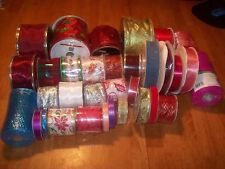 Lot Of 33 New Craft Ribbon Spools Over 440 Yards