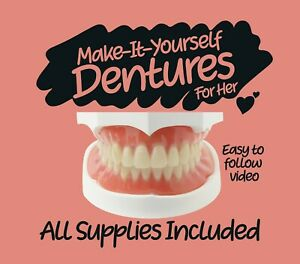 DIY Denture Kit - Homemade Dentures, Custom Full or Partials