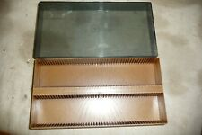 Slide projector slide container for 100 35mm slides BOOTS smoked & lift off lid