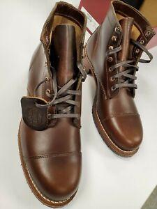 MEN'S WOLVERINE 1000 Mile Cap-Toe Boots, CUIR BRUN (W990075), Size 10.5 D NEW!!!