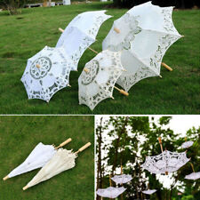 Lace Embroidered Sun Parasol Umbrella Bridal Wedding Dancing Party Photo Show