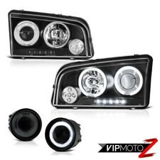 06-09 Charger SRT8 [Angel Eye Halo]+CCFL Headlamps Bumper Smoked Tint Fog Lights