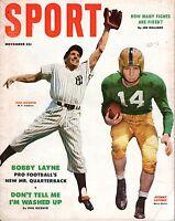 1953 Nov Sport Magazine,Baseball,Phil Rizzuto,New York Yankees Johnny Lattner~Fr