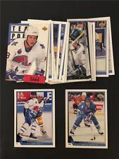 1993/94 Upper Deck Quebec Nordiques Team Set 22 Cards