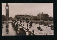 LONDON Westminster Bridge 1900s? RP PPC by Daidson Bros