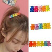 Handmade Cute Colorful Plastic Hair Clip Gummy Bear Hairpin Barrettes Pin F4X0