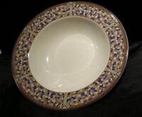"""Christopher Stuart COLORSTONE 8-1/2"""" Rim Soup Bowl Retired Art Deco Colorblock"""