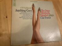 LP RECORD DAVE BRUBECK PLAYS COLE PORTER. ANYTHING GOES