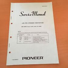 Pioneer SX-424 Receiver Repair Service Manual & Schematics Factory Original!