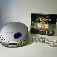 Gray Sony Walkman D-E350 ESP Max Portable CD Player Tested Working W/ Headphones
