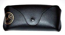 Ray Ban Eyeglasses Case Sunglasses Pouch Holder Black Semi Hard Luxottica Nice !