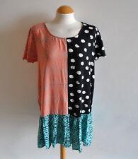Ladies River Island Chelsea Girl Patterned Drop Waist Tunic Dress Summer Size 14