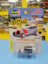 REVELL  RAT RODS '29 FORD MODEL A TUB   GREY  W/ RED FLAMES ISSUE   #85