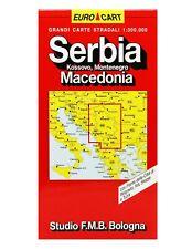 SERBIA KOSSOVO, MONETENEGRO, MACEDONIA CARTINA STRADALE 1:300.000 [MAPPA/CARTA]