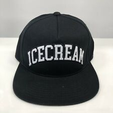 ICECREAM SNAPBACK HAT CAP BLACK WHITE ADJUSTABLE BBC