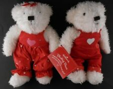 Hallmark Valentine's Day Magnetic Kissing Bears Matching Outfits with Tags 2004