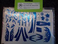 JG Decalcomanie Pre-Cut Vinyl Decals Multi design 1/28TH - Blu Metallico