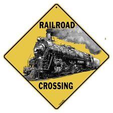 Railroad Crossing Sign NEW 12X12 Metal Train Xing