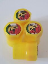 FIAT ABARTH Plastic Wheel Valve Dust caps all models Yellow 7 Colour 500C 500L