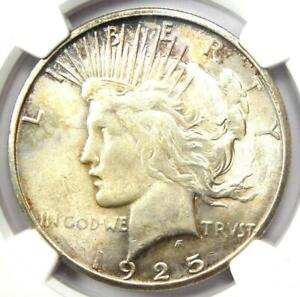 "1925-S Peace Silver Dollar $1 - NGC MS63+ PQ ""Plus"" Grade - $665 Value"