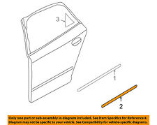 AUDI OEM A4 Quattro Rear Door Body Side-Lower Molding Trim Left 8E08539697DL