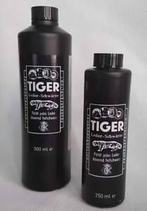 B&E TIGER Lederschwärze Lederfarbe Lederbeize schwarz 500 ml oder 250 ml