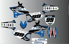 YAMAHA YZ YZF 85 125 250 450 FULL MOTOCROSS GRAPHICS KIT-DECALS-STICKERS-MX-TROY