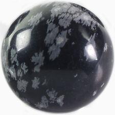 5 pcs Wholesale Snowflake Obsidian Stone Sphere - Reiki, Wicca, Scrying Stone