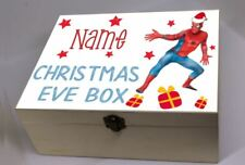 Christmas Eve Box, Personalised Christmas Box Sticker, Spiderman Sticker ONLY